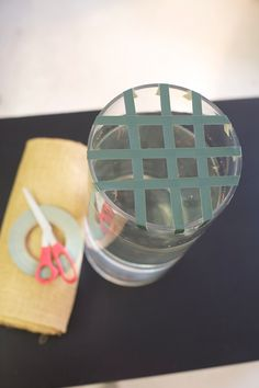 floral tape to make flowers stand up in a vase