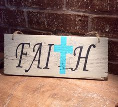 Reclaimed wood sign with Faith' sign with by SimplyRustiqueDecor, $20.00