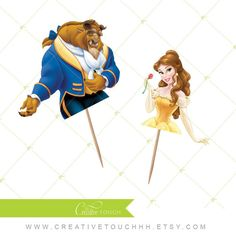 Princess Belle beauty and the beast hair bow clip rockabilly