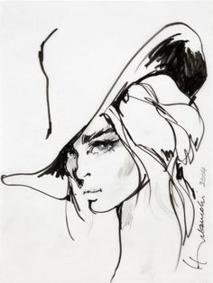 Barbara Hulanicki Madame 2004 - Ink on vellum Exhibitor: Fashion Illustration…