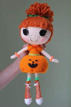 PATTERN for purchase: Lalaloopsy Pumpkin Candle Light Crochet Amigurumi Doll