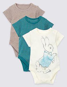 """3er-Pack """"Peter Rabbit™""""-Bodys aus reiner Baumwolle"""
