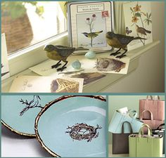 Hy Saay With Treasures From Room Service Home Pretty Bird Decor