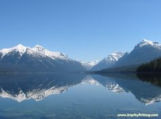 Lake McDonald on a calm morning in May