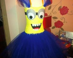 Despicable Me Inspired Minion Tutu Dress by FrostingShop on Etsy