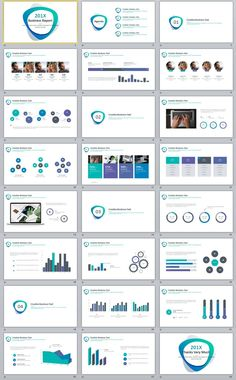 24+ Simple Blue Business report PowerPoint Template