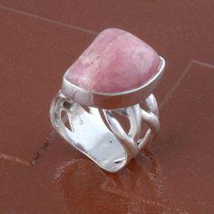 HOT SALL 925 SOLID STERLING SILVER RHODOCHROSITE RING 11.0g DJR3237 #Handmade #Ring