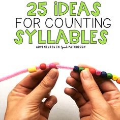 These 25 fun ways to practice breaking words into syllables can be great for your preschooler and their phonological awareness. Word Adventure, Letter Identification, Career Quotes, Success Quotes, Preschool Special Education, Phonological Awareness, Reading Fluency, Speech Pathology, Syllable