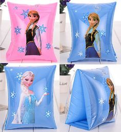 2Pcs Frozen Anna Elsa Girl Kid Swim Arm Bands Birthday Party Float Swimming Suit