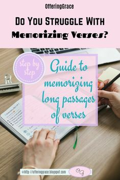 Do you struggle with memorizing scriptures? Did you know that it is often easier to memorize verses, and for them to stick, if you memorize long passages? | Bible Encouragement | Bible Verses | how to memorize | long passage verses | memorization | #verses | #memorization | #sharinglifesstruggles Marriage Bible Verses, Bible Verses For Women, Bible Verses About Faith, Encouraging Bible Verses, Bible Encouragement, Scriptures, Free Bible Study, Bible Study Tips, Learn To Spell