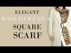 10 ELEGANT Ways to wear a SQUARE scarf | Classy Outfits - YouTube Square Scarf How To Wear A, Square Scarf Tying, Ways To Wear A Scarf, How To Wear Scarves, Scarf Wearing Styles, Scarf Styles, Ways To Tie Scarves, Tie Shoes, Fashion Over 40