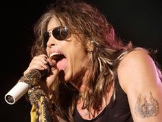Jeff RobersonAerosmith's Steven Tyler suffered a broken shoulder and other injuries when he fell from a stage in South Dakota. Injuries suffered by singer Steven Tyler during a show has forced his band Aerosmith to cancel the remaining dates on. Joe Perry, Mick Jagger, Rock N Roll, 80s Rock Bands, Steven Tyler Aerosmith, Zac Brown Band, Susan Sarandon, Jimmy Buffett, Soundtrack
