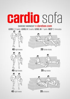NEW: Cardio Sofa Workout  #darebee #workout #fitness