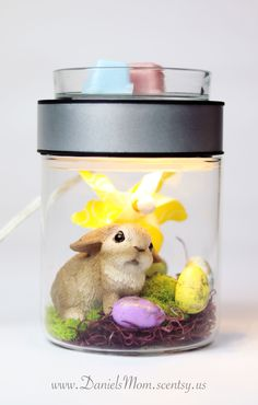 Got a head start in Easter for the Make A Scene Warmer. www.DanielsMom.scentsy.us All items are from Hobby Lobby