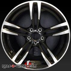 """2015-2016 BMW M4 oem wheels for sale. 19"""" Black stock rims 86095 http://www.need-a-wheel.com/rim-shop/19-bmw-m4-oem-wheels-rims-black-86095/ , #oemwheels, #factorywheels"""
