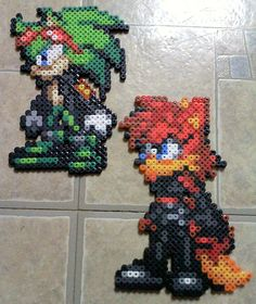sandylandya@outlook.es Team Antiverse Sonic perler beads by TomatoisJPhansburg
