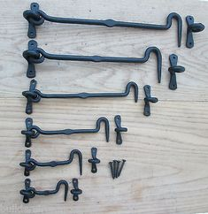 Wrought Iron Hand forged blacksmith Cabin Hook and Eye Shed Gate Door Latch Lock in Home, Furniture & DIY, DIY Materials, Doors & Door Accessories | eBay