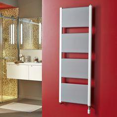 Sèche-serviettes eau chaude acier DELTACALOR MORPHEO blanc mat, 688W