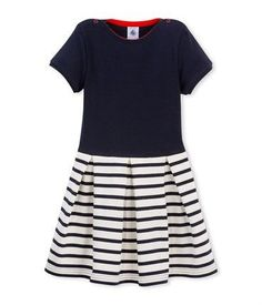 Petit Bateau Dual Material Dress