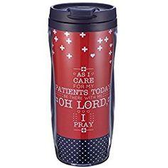 Blessings for Nurses Prayer Polymer Travel Mug - Gift for nurses Hebrews 12:1