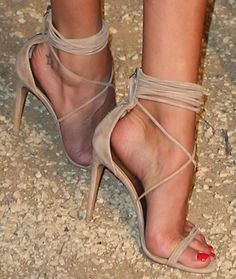 nude strappy high heels | You can find this at => feedproxy.google....