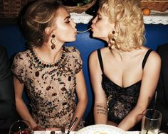 Cara Delevingne and Pixie Geldof photographed by Terry Richardson for Harper's Bazaar USA April 2012