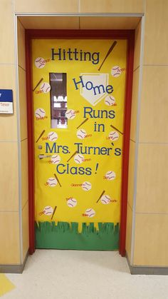"The post ""Classroom Door Decorating Sports Bulletin Boards Ideas"" appeared first on Pink Unicorn Bulletin boards Sports Theme Classroom, 4th Grade Classroom, Classroom Door, Classroom Ideas, Classroom Activities, Sports Classroom Decorations, Future Classroom, Baseball Bulletin Boards, Teacher Door Decorations"