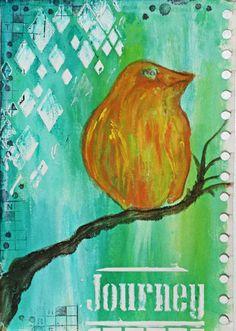 Mixed-Media-Mittwoch - Challenge, Thema: Vogel/Vögel - Idee und Umsetzung Daniela Rogall