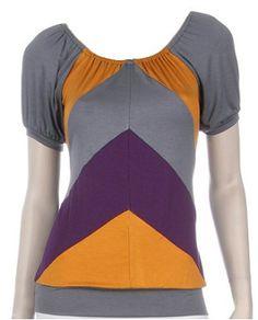 Gray Angles Short Sleeve Top