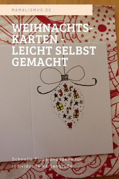 Weihnachtskarten – leicht gemacht Lettering, Snoopy, Fictional Characters, Creative Cards, Diy Christmas Cards, Drawing Letters, Fantasy Characters, Brush Lettering