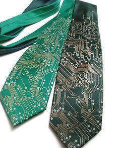 circuit board necktie - for your nerdy groom!