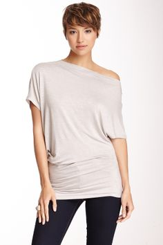 Boatneck Asymmetrical Shirt