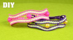 Macramé Wavy Eye Bracelet Tutorial