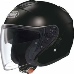 Helmet by Bike Scooter in Fiber Shoei J-Cruise Matte Black Open Face Motorcycle Helmets, Biker Helmets, Open Face Helmets, Racing Helmets, Motorcycle Gear, Dafy Moto, Matte Black Helmet, Shoei Helmets, Best Car Insurance