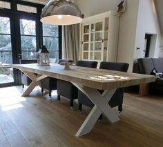 Best Modern Industrial Dining Furniture Set Design And Decorating Ideas Furniture Sets Design, Dining Furniture Sets, Home Furniture, Industrial Dining, Modern Industrial, Dinning Room Tables, My New Room, Farmhouse Table, Home And Living