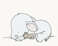 Olifant en Bunny kinderkamer kunstMake A door SweetMelodyDesigns