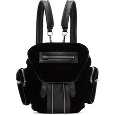 f0c551d0134 Alexander Wang Black Leather and Velvet Mini Marti Backpack ( 910) ❤ liked  on Polyvore. Black BackpackMini BackpackBackpack BagsConvertible ...