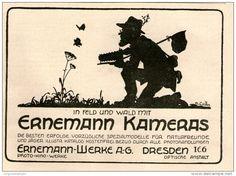 Original-Werbung/Inserat/ Anzeige 1919 - ERNEMANN KAMERAS ca. 140 x 100 mm