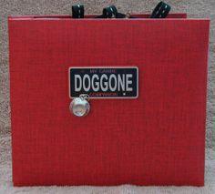#papercraft #scrapbook #minialbum: Dog Album -Cover (made by Stephanie Hackney/PaperCrafter's Corner)