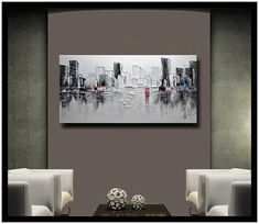 A new type of Abstract Wall Painting Black and white
