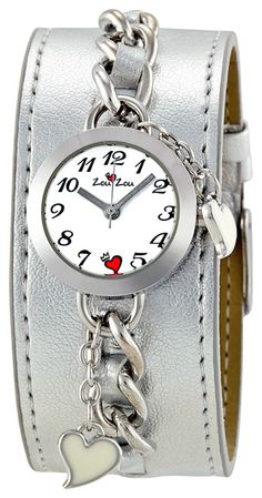 Zou Zou White Dial Silver Leather Cuff Ladies Wat On Sale! $9.99 todayOnSale.com