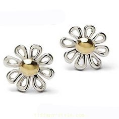 Tiffany Outlet Paloma Picasso Silver Daisy Stud Earrings
