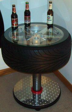 Tire Table  ***** Man cave idea!****