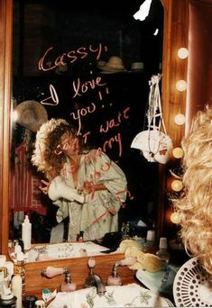 The message John wrote on Cassie's mirror before their wedding...