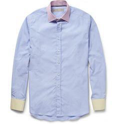 Etro Contrast-Collar Cotton Shirt | MR PORTER