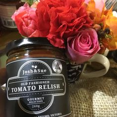 Josh&Sue Gourmet Selection an award winning condiment company, crafted in Daylesford, small batches full of all natural ingredients. Rose Harissa, Tomato Relish, Australian Food, Coffee Bottle, Gourmet Recipes, Glutenfree, The Selection, Raspberry, Artisan