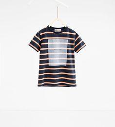 Bild 1 av Randig T-shirt från Zara Zara, T Shirts, Stripes, Boys, Design, Women, Image, Fashion, 14 Year Old