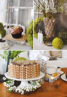 "Chic ""Mossy Garden"" First Birthday Party"