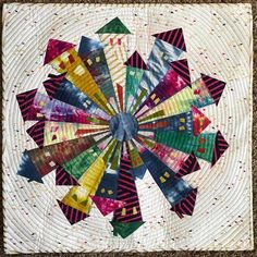 Dresden Neighborhood Quilt by Kim Lapacek Small Quilts, Mini Quilts, Scrappy Quilts, Quilting Projects, Sewing Projects, Quilting Ideas, Sewing Crafts, Dresden Plate Quilts, House Quilts