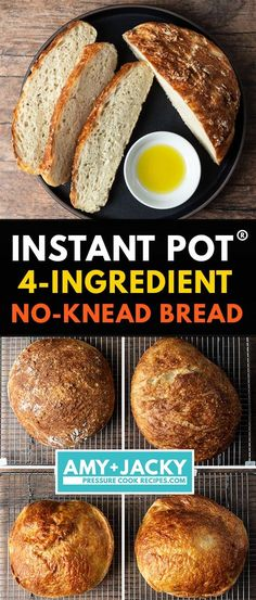 Best Instant Pot Recipe, Instant Pot Dinner Recipes, Recipes Dinner, Instapot Bread, How To Make Bread, Food To Make, Pain Artisanal, Pots, No Knead Bread